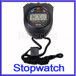Wholesale OP Digital Handheld Sport Stopwatch Stop Watch Alarm Time Timer Counter Chronograph