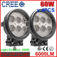 "Spot Beam 8 Degree 10000lm 4PCS 7"" 60W CREE LED Work Light Driving SUV ATV 4WD 4x4 Spot Pencil Beam 8 Degree 6000lm IP67 JEEP Truck Wagon Fog Headlamps EMC Function"