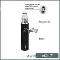 Wholesale eGoT ego t Battery Replacement new Vaporizer Straight Voltage mah mah mah mah batteries for eGo T CE4 CE5 CE6 atomizers