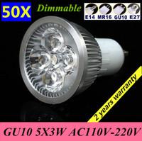 Spotlight Power LED 9W 50X GU10 E27 GU5.3 E14 B22 (MR16 12V) 9W 12W 15W 110V-120V 220V-240V Dimmable Light lamp Bulb LED Downlight Led Bulb