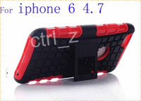 Wholesale 2 in Hybrid Heavy Duty Robot TPU Hard Back Stand Cover For Apple Iphone6 iphone Air