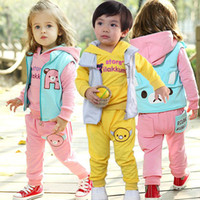 Unisex Spring / Autumn Long Wholesale - 2014 new children's clothing spring and autumn sweater three-piece suit boy suit baby factory direct