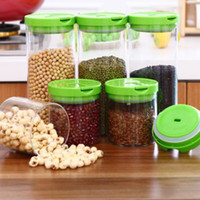 Wholesale O1534 trumpet and more heat resistant glass sealed cans Kitchen Storage Canister Kitchen Canister