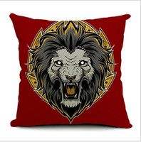 Polyester / Cotton Cotton Square The Gothic Punk fan Indian Skull decoration cotton pillow office nap cushion pillow cushion cover for sofa bed and car 45*45cm
