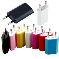 Wholesale 50pcs EU USB Wall Charger Home Travel Charger AC Adapter For iPhone3G GS G G portable travle charger by china post