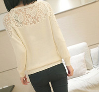 Women Cotton Blend  Spring summer Sweater 2014 women fashion clothes cardigan Sexy lace hollow out sweater
