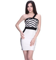 Wholesale 2014 hot and latest bandage dress with single strap boutique dresses