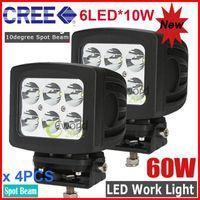 "Spot Beam 30 Degree 10000lm 4PCS 5.2"" 60W CREE 6-LED Work Driving Light Square Off-Road SUV ATV 4WD 4x4 Spot Flood Beam 9-32V 6000lm JEEP Truck Wagon Fog Headlamps"