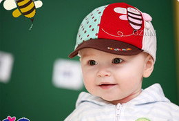 Wholesale 20pcs Novelty Kids Korean Style Babies Bee Cartoon Baseball Caps Infant Spring Autumn Berets