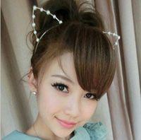 Wholesale Fashion Pearls fashion Cat Ear Headbands Hair Accessories