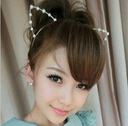 Wholesale Fashion Pearls fashion Cat Ear Headbands Hair Accessories