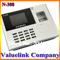 Biometric Time Recording NICE N-308 N-308 fingerprint time attendance Clock Employee Payroll Recorder Machine Free Shipping Wholesale & Retail Safe for Home AM0023