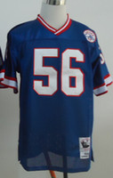 Football Men Short New Throwback Jerseys #56 Jersey Blue And White By M&N Size 48-56 High Quality Cheap Price Stitched Mix Match Order American Football JERSEY