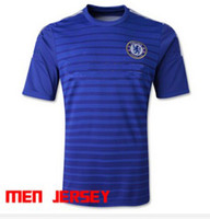 Wholesale 14 Chelsea Home Blank Football Shirts Thailand Quality Navy Blue Soccer Jersey Cheap Sports Shirts for Men New Season Soccer Wears
