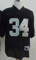 Wholesale New Throwback Jerseys Jersey Black White High Quality By M N Size High Quality Stitched Mix Match Order American Football JERSEY