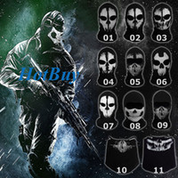 Wholesale Call of Duty COD Ghost Skull Face Mask Cosplay Balaclava Skateboard Bike Hood Cos Costume