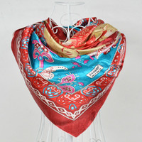 Scarves Yes Print 2014 Polyester Silk Scarf Printed,Fashion Women Red Big Square Scarf Shawl,New Design Jacquard Large Satin Scarves 110*110cm