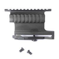 saiga - Quick Release Side Lock Scope Sight Laser Mount W Dual quot Picatinny Rail Hunting Gun Accessories For AK AKS Saiga Rifle