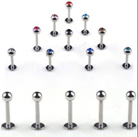 Wholesale OP x Bulk Stainless Steel Lip Chin Labret Ring Bar Stud Tragus Ball Body Piercing