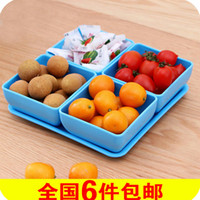 Wholesale Colorful candy dish dried fruit snacks category fruit plate set bowl dish fashion creative fruit plate