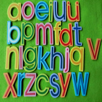 Wholesale 27PCS Wood A Z alphabet fridge magnets Letter magnetic sticker Teach your own Home ornament Kids toy Birthday gift