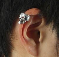 Wholesale PUNK style Skull Head Earring Ear Cuff pc colors