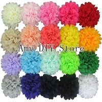 Flower alternative hair colors - colors alternative chiffon hair flowers headband flowers WITHOUT clips DIY garment accessories HH059
