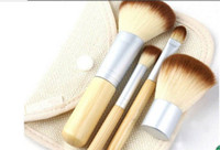 best quality brushes supplies - 4pcs set Bamboo Elaborate Powder Blending Eyeshadow Makeup Brushes Professional Cosmetic Make Up Brush Set Best Quality sets supply
