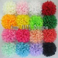 Flower alternative shoes - NEW style alternative chiffon hair flowers WITHOUT clips for shoes clothing hair DIY garment accessories HH059