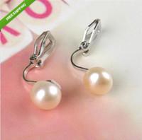 Wholesale Real mm Pearl No Pierced Ears