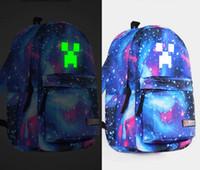 2014 New 9 Colors Luminous Minecraft Casaul Travel Bags Unis...