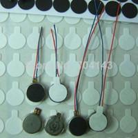 Wholesale 50pcs mm mm Vibration Vibrator Micro Motor mini Pancake Pager lead