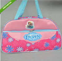 Wholesale 2014 New Style Anna Elsa bag Girls Fashion Cartoon handbags kids Big shoulder bags children travel bags Sport Outdoor Packs frozenc228