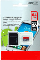 Wholesale 64GB GB C10 UHS I Micro SD TF Memory Card Free SD Adapter Retail Blister Package microSD SDHC Card