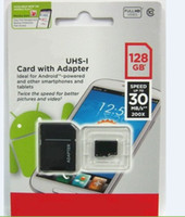 Wholesale 128GB GB C10 UHS I Micro SD TF Memory Card Free SD Adapter Retail Blister Package microSD SDHC G G Card for Android Phones memorygeek