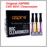 Replaceable 1.8ml Glass Genuine Aspire CE5 BDC Clearomizer Bottom Dual Coil Tank 1.8ml Electronic Cigarette for eGo t ego vv ego twist Battery Rebuildable CE5 Tank