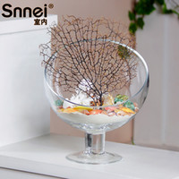 Wholesale Snnei indoor tall beveled glass flower vase DIY transparent modern fashion home decorations