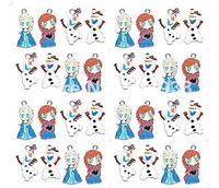 Wholesale New Frozen Olaf Elsa Anna Enamel Metal Charms Jewelry Making Pendants Earrings