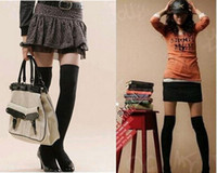 Wholesale Hot Sale Womens Girls Sexy Cotton High Socks Thigh High Hosiery Stockings Over The Knee M1079