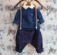 Wholesale 2014 Autumn Winter Boys New Long Sleeve T Shirts Kids Clothing Lapel Collar Cotton Patched Long Tops Childs Clothes Dark Blue Burgundy M0714