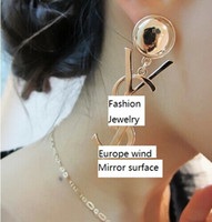 Wholesale Fashion Jewelry Stores Pairs Mixed X L Y Mirror Surface Studs Earring Mixed Option Mixedlot