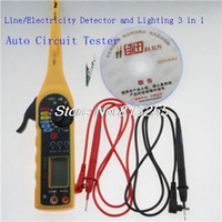 other auto electrical testers - 2016 Multi function Auto Circuit Tester Multimeter Lamp Car Repair Automotive Electrical Multimeter V V Voltage tester Screen