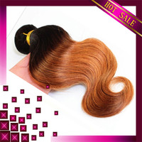 Brazilian Hair Body Wave  6A brazilian hair weave wigs Unprocessed Mix 4Pcs Lot ombre Body Wave Virgin Human Hair Extensions Wholesale two tone 1b#27Color Tangle Free