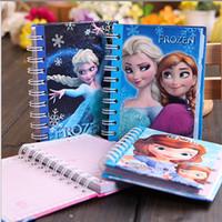 Wholesale Frozen Spiral Notebook Sofia Elsa Anna Kristoff Sven School Supplies Frozen A199
