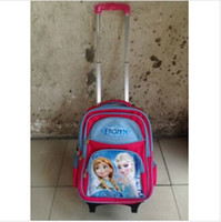 Wholesale 2014 new Frozen trolley bags school bag girl hot selling wheeled bags Canvas wheeled Schoolbag baby toy for kids best gift frozenc230