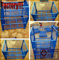 Wholesale Wire Mesh Pallet Container Cage Box Basket