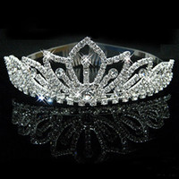 Headbands Silk Flower  Wedding Bridal crystal veil tiara crown headband