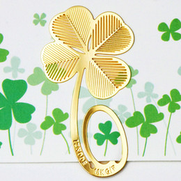 Wholesale Clover bookend bookzzicard K metal bookmark card exquisite workmanship clever design holiday gift a616