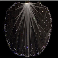 Hot Sale Sparkling High Quality 1 Layer Crystals Wedding Vei...