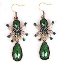Wholesale Hot Fashion Beautiful Charm Party spider pendant Earrings Jewelry EG049